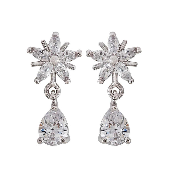 Sexy Silver American Diamond Drop Earrings - MCHUJE27OT630