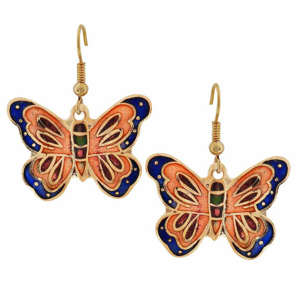 Sexy Multicolour Meenakari Dangler Earrings - MCHUJE27OT684