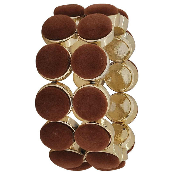 Terrific Brown Gold Trending Adjustable Party Size Bracelet - MCHUJB28AP99