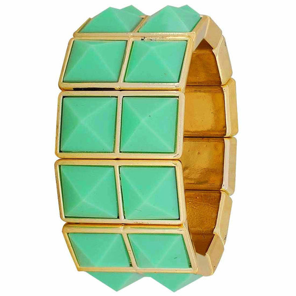 Suave Green Gold Trending Adjustable Casualwear Size Bracelet - MCHUJB28AP127