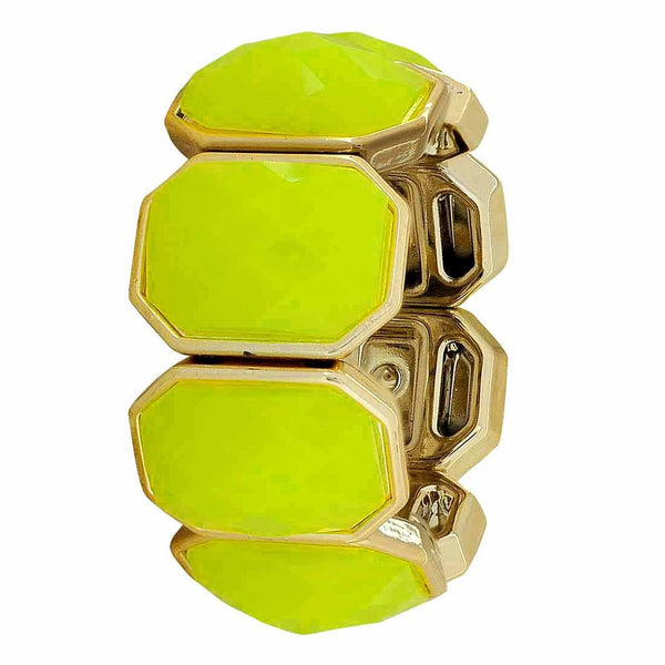 Superb Yellow Bronze Trending Adjustable Get-together Size Bracelet - MCHUJB28AP131