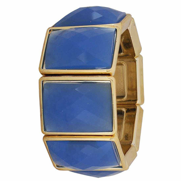 Modern Blue Gold Trending Adjustable Party Size Bracelet - MCHUJB28AP135