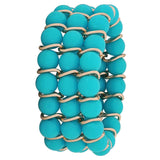 Simple Blue Bronze Trending Adjustable College Size Bracelet - MCHUJB28AP140