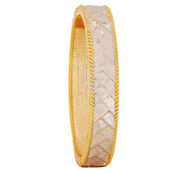 Superb Silver Gold in-Trend Adjustable Cocktail Size Kada - MCHUJB28AP184