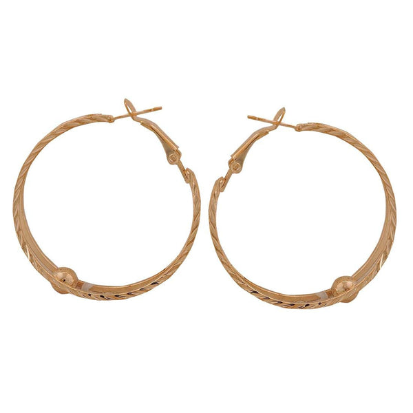 Stylish Gold Contemporary Party Hoop Earrings - MCHUJE26FB46