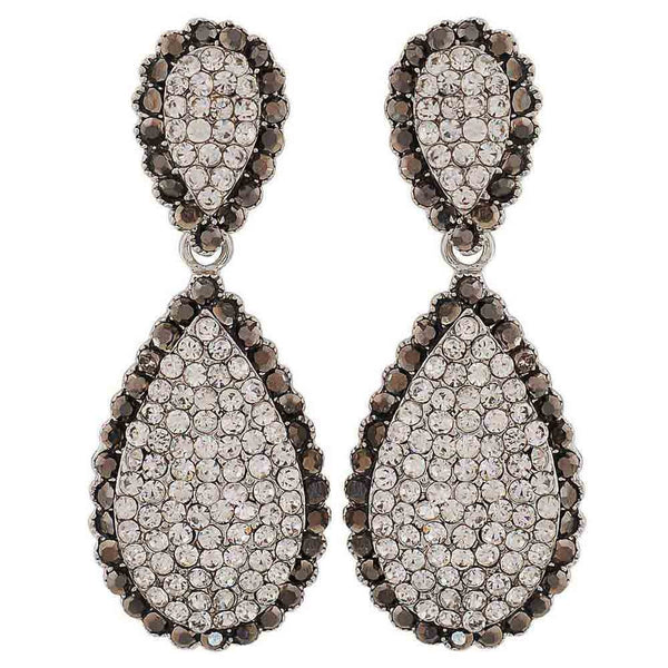 Trendy Silver Victorian Party Drop Earrings - MCHUJE26FB56