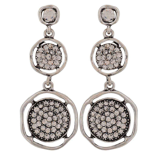 Stunning Silver Victorian Cocktail Drop Earrings - MCHUJE26FB92
