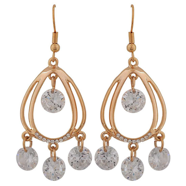 Sparkling Bronze Stone Crystals Get-together Drop Earrings - MCHUJE26FB98