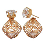 Awesome Bronze Designer College Stud Earrings - MCHUJE26FB125