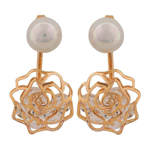 Sober White Gold Pearl Get-together Drop Earrings - MCHUJE26FB128