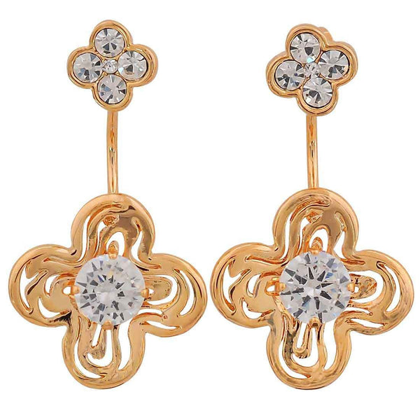 Smart Gold Stone Crystals Get-together Drop Earrings - MCHUJE26FB148