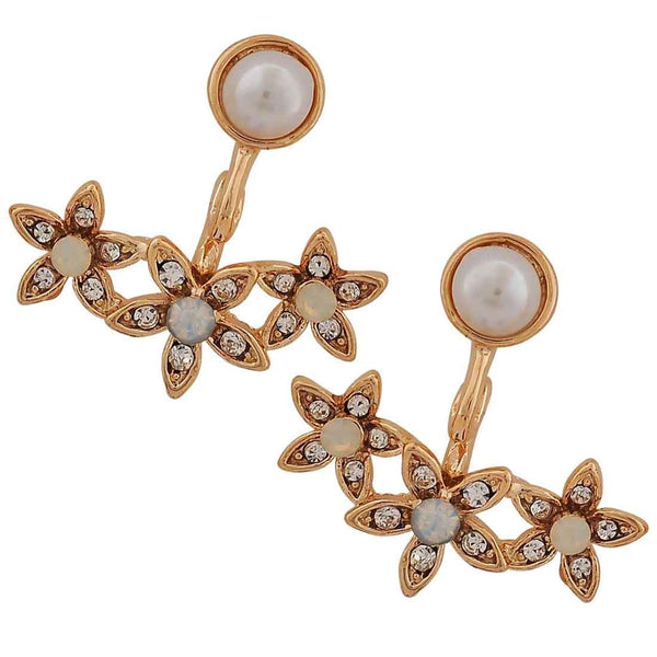 Classic White Gold Pearl College Drop Earrings - MCHUJE26FB150