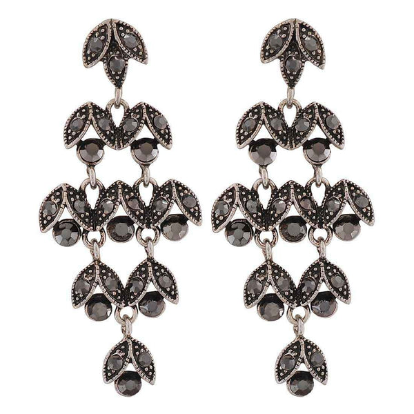 Suave Silver Designer Cocktail Drop Earrings - MCHUJE26FB167