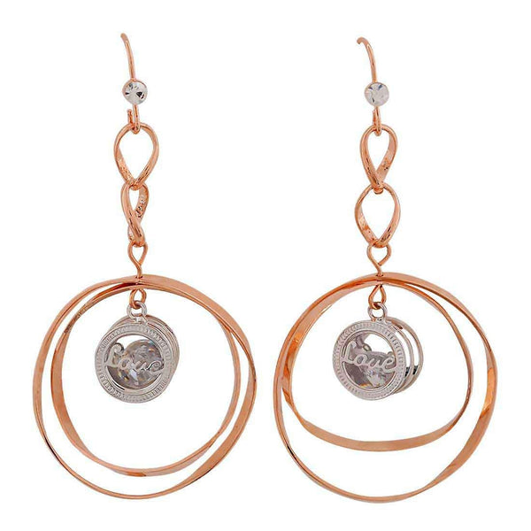 Sexy Bronze Silver Designer Casualwear Dangler Earrings - MCHUJE26FB189