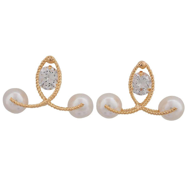 Exquisite White Gold Indian Ethnic Casualwear Drop Earrings - MCHUJE26FB214