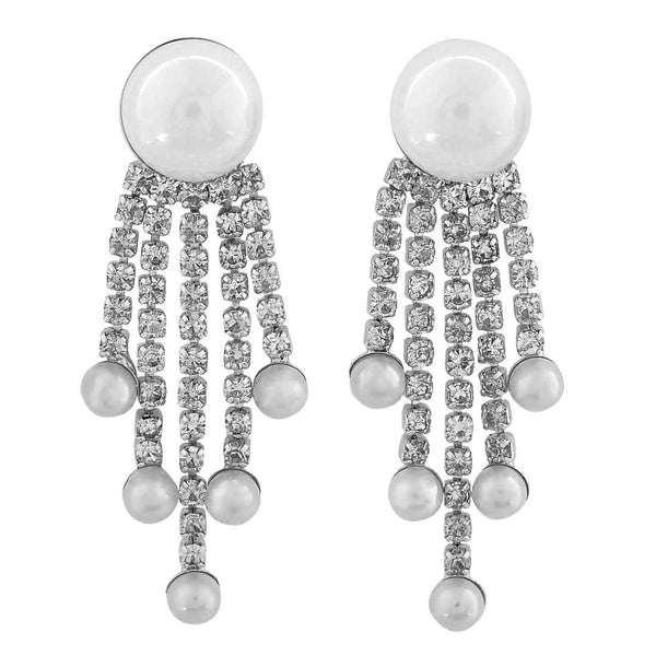 Special White Designer Casualwear Drop Earrings - MCHUJE26FB229