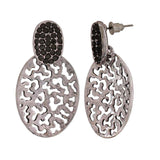 Unique Silver Filigree Casualwear Drop Earrings - MCHUJE26FB244