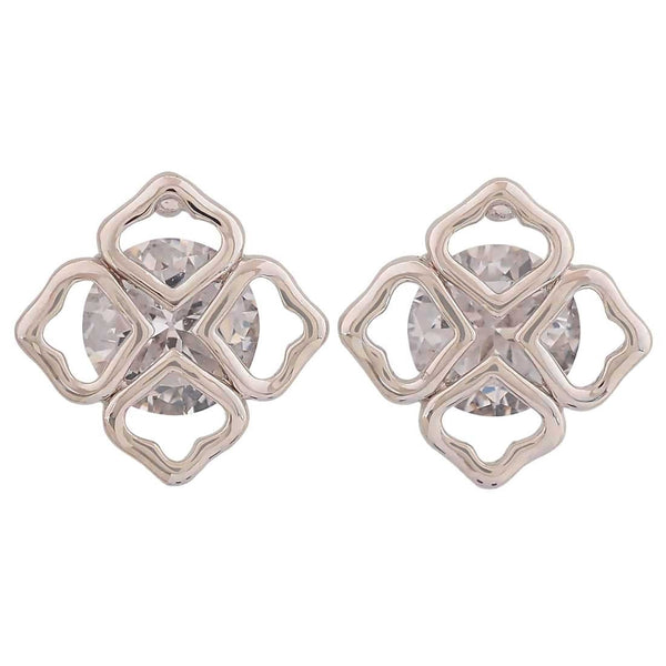 Stylish Silver American Diamond Get-together Stud Earrings - MCHUJE26FB258