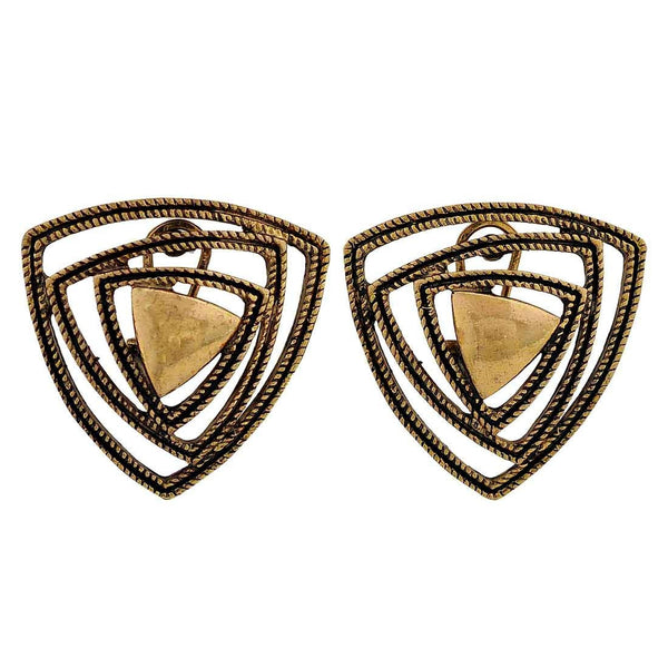 Pretty Gold Designer Party Clip On Earrings - MCHUJE26FB306