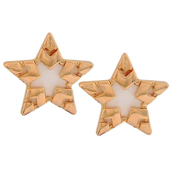Stylish White Designer Party Stud Earrings - MCHUJE26FB311