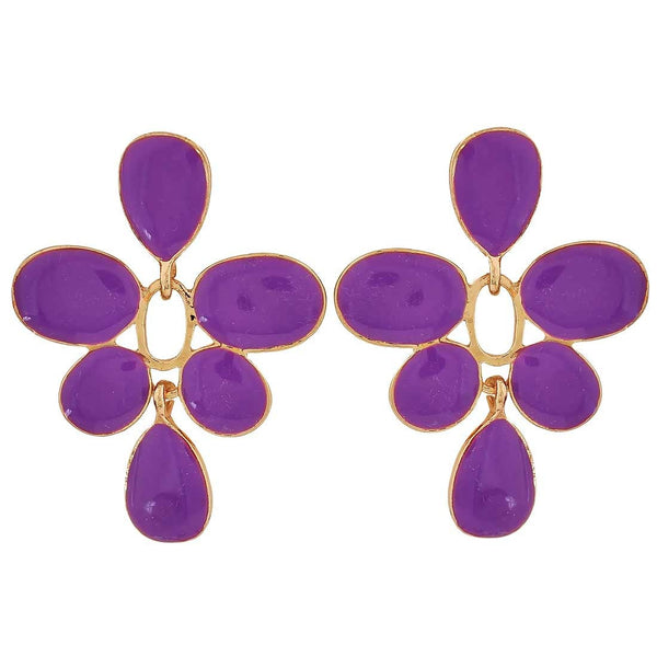 Darling Purple Designer Get-together Drop Earrings - MCHUJE26FB343
