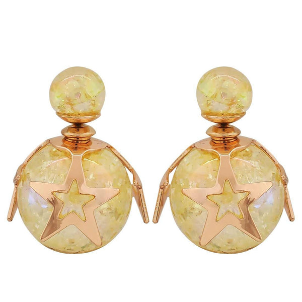 Awesome Yellow Designer College Stud Earrings - MCHUJE26FB390