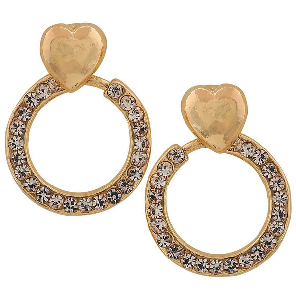 Smart Gold Stone Crystals Get-together Drop Earrings - MCHUJE26FB413