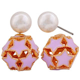Exquisite White Blue Designer Party Stud Earrings - MCHUJE26FB426
