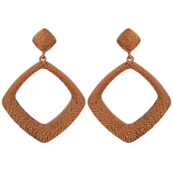 Chic Bronze Designer Get-together Drop Earrings - MCHUJE26FB438