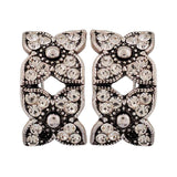 Sensual Silver Stone Crystals Party Clip On Earrings - MCHUJE26FB451