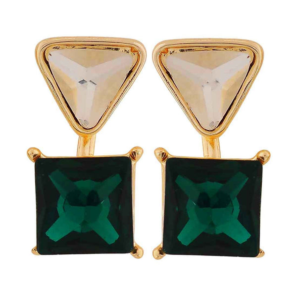 Stunning Green Stone Crystals Get-together Drop Earrings - MCHUJE26FB463
