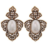 Sexy White Gold Pearl Get-together Drop Earrings - MCHUJE26FB488