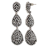 Modern White Pearl Get-together Drop Earrings - MCHUJE26FB493