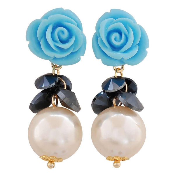 Unique Multicolour Pearl Casualwear Drop Earrings - MCHUJE26FB509