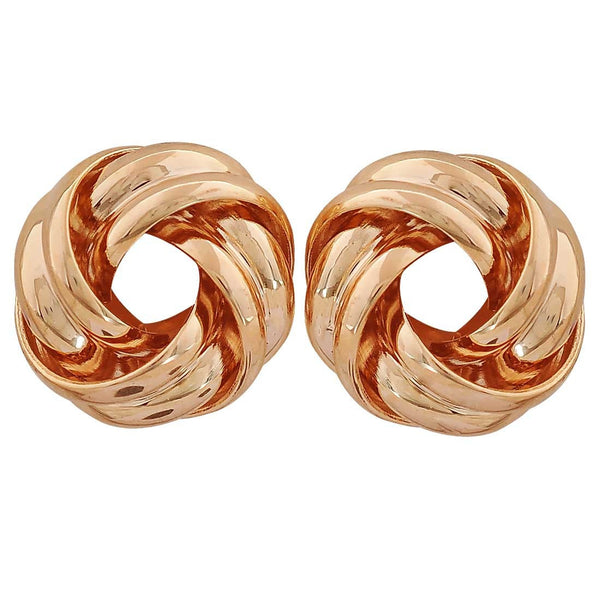 Simple Gold Designer Party Stud Earrings - MCHUJE26FB551