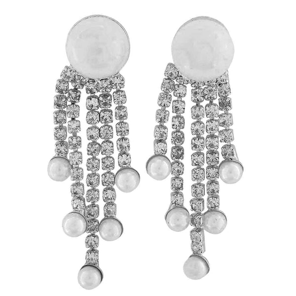 Beautiful White Pearl Get-together Drop Earrings - MCHUJE26FB583