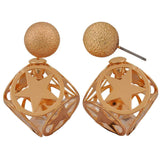 Lovable Bronze Designer Cocktail Stud Earrings - MCHUJE26FB607