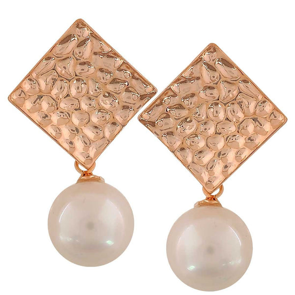 Darling White Gold Pearl Get-together Drop Earrings - MCHUJE26FB608