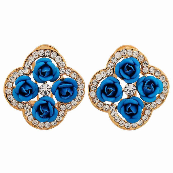 Terrific Blue Designer Party Clip On Earrings - MCHUJE26FB616