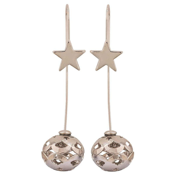 Fabulous Silver Designer Get-together Drop Earrings - MCHUJE26FB618