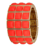 Suave Orange in-Trend Adjustable Get-together Size Bracelet - MCHUJB28AP233