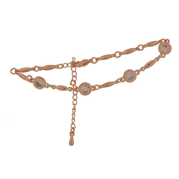 Awesome Bronze Stone Crystals Adjustable Party Size Bracelet - MCHUJB28AP297