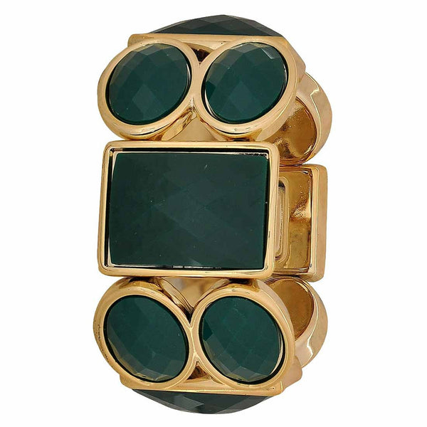 Exclusive Green Gold Latest Adjustable Casualwear Size Bracelet - MCHUJB28AP325