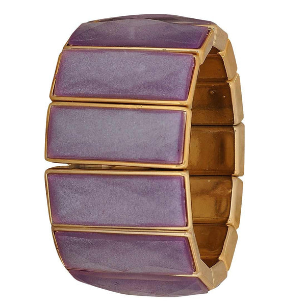 Cool Purple Gold Latest Adjustable Casualwear Size Bracelet - MCHUJB28AP337