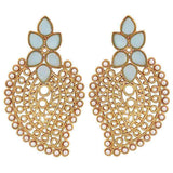 Exquisite Blue White Filigree Sangeet Drop Earrings - MCHUJE26FB666