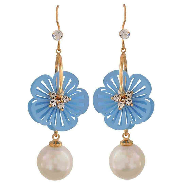 Exquisite Blue White Pearl Party Dangler Earrings - MCHUJE26FB756