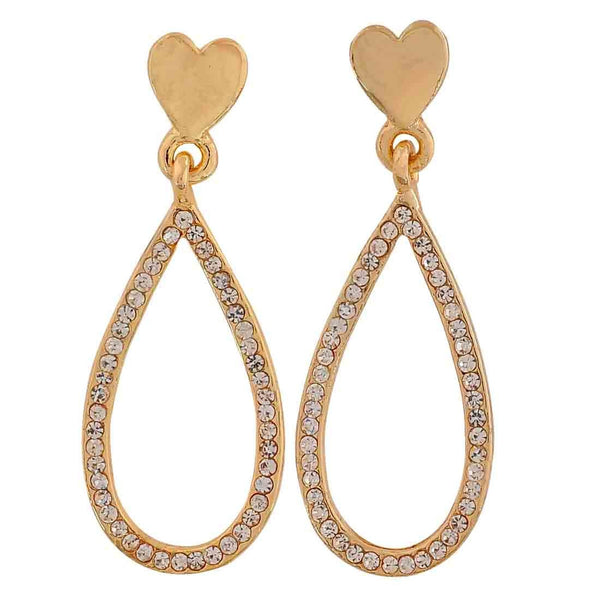 Special Gold Stone Crystals Party Drop Earrings - MCHUJE26FB771