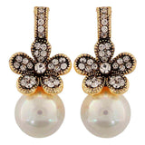 Plush White Pearl Cocktail Drop Earrings - MCHUJE26FB822