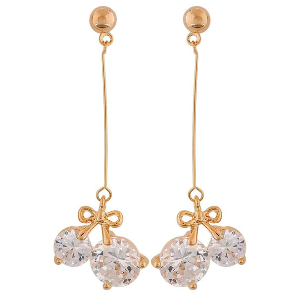 Great Gold Stone Crystals Cocktail Tassel Earrings - MCHUJE26FB857
