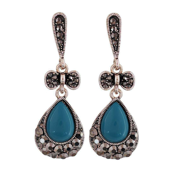 Lovable Blue Designer Casualwear Drop Earrings - MCHUJE26FB884